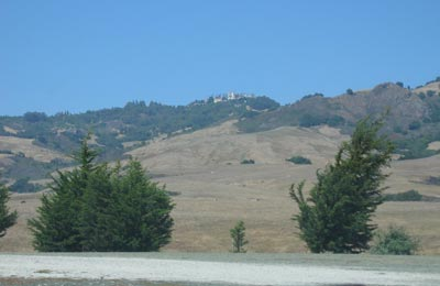 Hearst Castle from Hwy 1